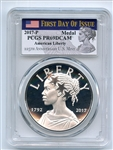 2017 P American Liberty Silver Medal PCGS PR69DCAM First Day of Issue