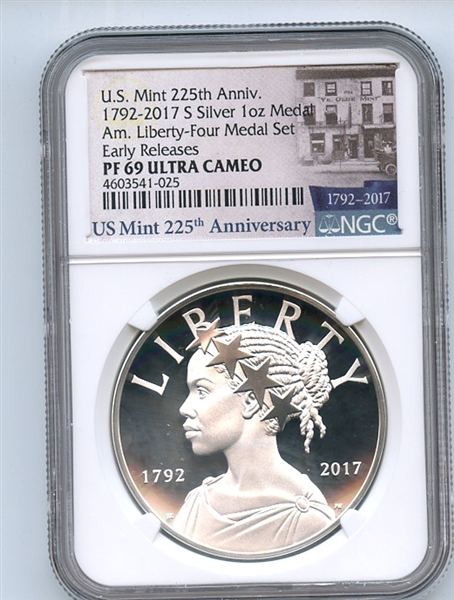 2017 D Silver American Liberty Medal NGC MS69 Early Releases