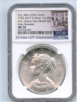 2017 D Silver American Liberty Medal NGC MS70 Early Releases