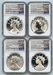 2017 Silver American Liberty Medal 4 Coin Set NGC 70 Early Releases