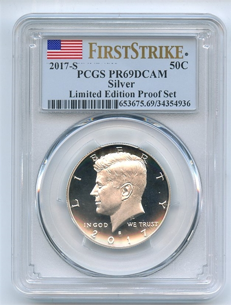 2017 S 50C Silver Kennedy Half Dollar PCGS PR69DCAM First Strike Limited Edition