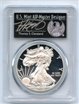 2017 S $1 American Silver Eagle PCGS PR70DCAM FS Limited Thomas Cleveland Black