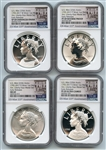 2017 Silver American Liberty Medal 4 Coin Set NGC 69 Early Releases