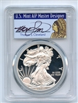 2017 S $1 American Silver Eagle PCGS PR70DCAM FS Limited Thomas Cleveland Native