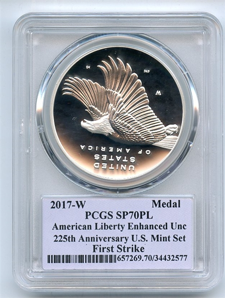 2017 W Silver American Liberty Enhanced Medal PCGS SP70PL Thomas Cleveland