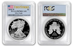 2018 W $1 American Proof Silver Eagle PCGS PR70DCAM First Strike