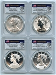 2017 Silver American Liberty 4 Coin Set PCGS 69 First Strike