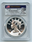 2017 W Silver American Liberty Medal PCGS SP69PL First Strike