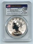 2017 P Silver American Liberty Medal Reverse Proof PCGS PR70 First Strike