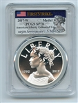 2017 W Silver American Liberty Medal Enhanced PCGS SP70 First Strike