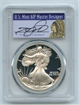 1989 S $1 Proof American Silver Eagle 1oz PCGS PR69DCAM Thomas Cleveland Native