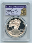 1991 S $1 Proof American Silver Eagle 1oz PCGS PR69DCAM Thomas Cleveland Native