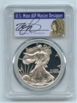 1997 P $1 Proof American Silver Eagle 1oz PCGS PR69DCAM Thomas Cleveland Native
