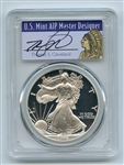 1998 P $1 Proof American Silver Eagle 1oz PCGS PR69DCAM Thomas Cleveland Native