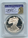 1996 P $1 Proof American Silver Eagle 1oz PCGS PR70DCAM Thomas Cleveland Native