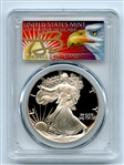 1989 S $1 Proof American Silver Eagle 1oz PCGS PR69DCAM Thomas Cleveland Eagle