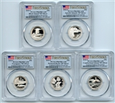 2018 S Silver National Parks Quarter Set PCGS PR69DCAM FS Limited Edition