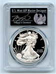 2018 S $1 Proof Silver Eagle PCGS PR70DCAM FS Limited Thomas Cleveland Freedom