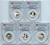 2018 S Silver National Parks Quarter Set PCGS PR70DCAM FS Limited Edition