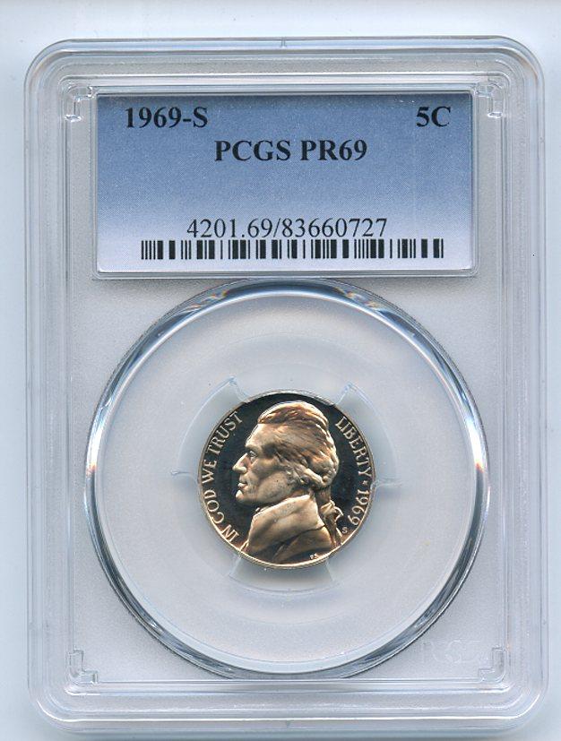 Lot Detail - 1969 S 5C Jefferson Nickel PCGS PR69