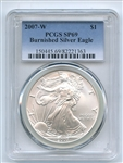 2007 W $1 Uncirculated Burnished Silver Eagle 1oz PCGS SP69