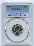 1968 S 5C Jefferson Nickel PCGS PR69