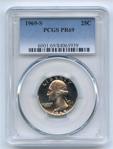 1969 S 25C Washington Quarter PCGS PR69
