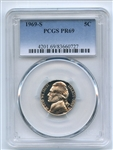 1969 S 5C Jefferson Nickel PCGS PR69