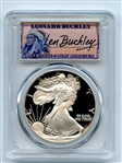 1987 S $1 Proof American Silver Eagle 1oz PCGS PR69DCAM Leonard Buckley