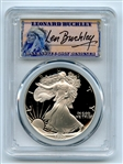 1990 S $1 Proof American Silver Eagle 1oz PCGS PR69DCAM Leonard Buckley