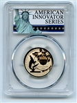 2019 S $1 American Innovation Dollar Reverse Proof PA Polio PCGS PR70 FS Exclusive