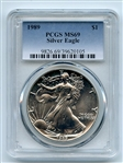 1989 $1 American Silver Eagle Dollar 1oz PCGS MS69