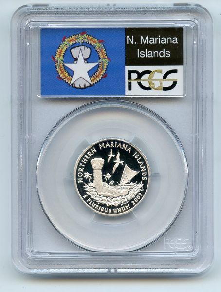 2009 S 25C Silver Northern Mariana Islands Quarter PCGS PR70DCAM