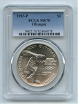 1983 P $1 Olympic Silver Commemorative Dollar PCGS MS70