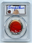 2020 S 50C Colorized Basketball Commemorative PCGS PR70DCAM FDOI Lenny Wilkens