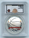 2020 P $1 Colorized Basketball Commemorative PCGS PR69DCAM FDI Private Collection