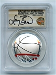 2020 S $1 Colorized Basketball Commemorative PCGS PR70DCAM FDOI Larry Bird