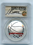 2020 P $1 Colorized Basketball Commemorative PCGS PR70DCAM FDOI Justin Kunz