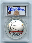 2020 P $1 Colorized Basketball Commemorative PCGS PR70DCAM FDOI Robert Parish
