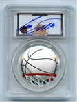 2020 P $1 Colorized Basketball Commemorative PCGS PR70DCAM FDI Dominique Wilkins