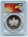 2019 $5 Silver Maple Leaf Modified Pride of 2 Nations PCGS PR70 Cleveland Eagle