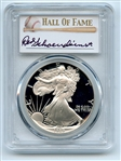 1989 S $1 Proof American Silver Eagle 1oz PCGS PR70DCAM Red Schoendienst