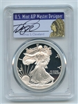 2001 W $1 Proof American Silver Eagle 1oz PCGS PR69DCAM Thomas Cleveland Native