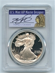 1990 S $1 Proof American Silver Eagle 1oz PCGS PR70DCAM Thomas Cleveland Native