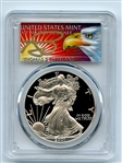 2001 W $1 Proof American Silver Eagle 1oz PCGS PR69DCAM Thomas Cleveland Eagle