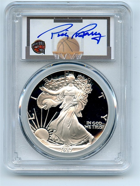 1987 S $1 Proof American Silver Eagle 1oz PCGS PR70DCAM Rick Barry