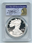 2011 W $1 Proof American Silver Eagle 1oz PCGS PR69DCAM Thomas Cleveland Native