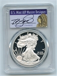 2008 W $1 Proof American Silver Eagle 1oz PCGS PR70DCAM Thomas Cleveland Native
