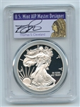 2015 W $1 Proof American Silver Eagle 1oz PCGS PR70DCAM Thomas Cleveland Native
