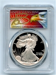 1991 S $1 Proof American Silver Eagle 1oz PCGS PR69DCAM Thomas Cleveland Eagle
